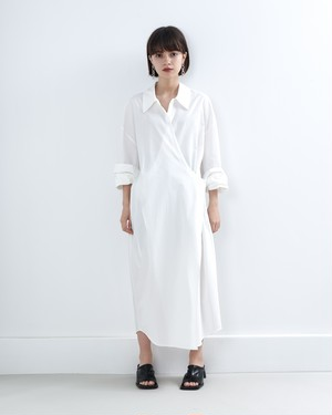 【新作】OVERSIZE WRAP LONG SHIRT