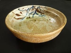 志野草文鉢