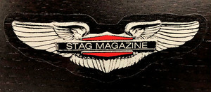 Stag Magazine Winged Stag Sticker