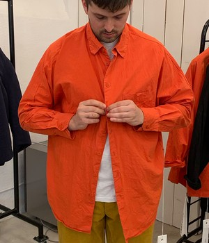 CASEY CASEY - WAGE SHIRT - 14HC168 - OVERSIZED ORANGE SHIRT
