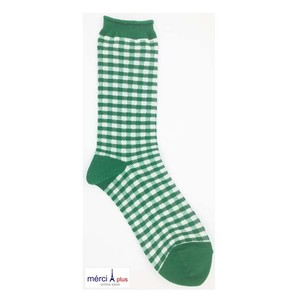 YUiNO-Gingham check-Socks