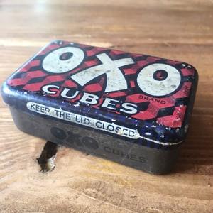 oxo ブリキ缶 (中) 小物入れ ミニチュア 缶 オクソー
