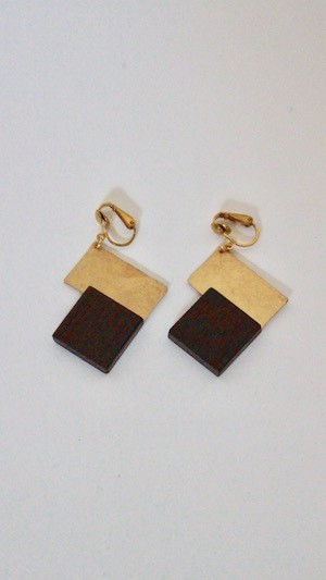 HISUI Brass Earrings