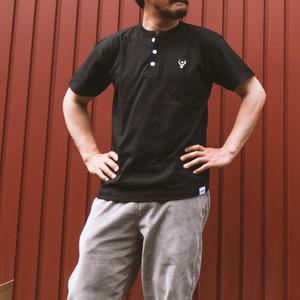 unfudge HENLEY NECK T-SHORTS / BLACK