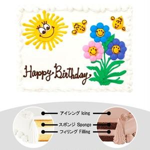 【予約】コストコ ハーフシートケーキ 笑顔のお日様ケーキ | [Pre-order] Costco Half-sheet cake Smiling Sun Cake