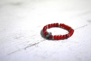 Saucer Antique Beads Ring〈 シェルソーサー アンティークビーズ リング 〉