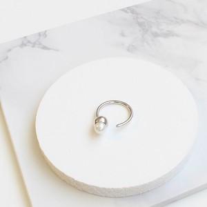 ■solid pearl ring -round / silver-■ ソリッドパールリング ラウンド シルバー