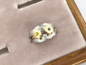 Coquelicot 2way ring ー yellow x black ー