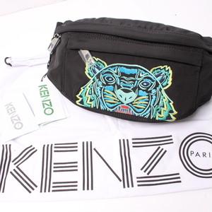 KENZO ケンゾー ウエストポーチ black タイガー刺繍[全国送料無料] r017132