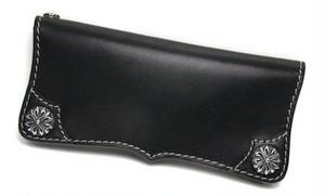 Silver925×牛革ウエスタンロングウォレット