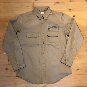 "Barns Outfitters ""THE RESTOREMAN  SHIRT""(BEIGE & BLACK)"