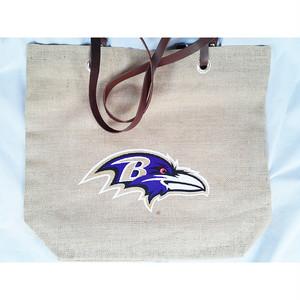 NFL ボルティモア レイブンズ Baltimore Ravens バーラップ 黄麻布 トートバッグ バッグ 正規品 1770