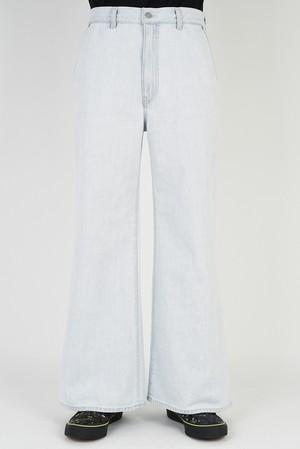 SALE 在庫あり MUSICIAN【ラッドミュージシャン】WIDE FLARE PANTS (2121-514 INDIGO BLEACH )