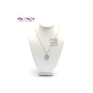 Shari Wacks シャリワックス スター ネックレス ライトグレー