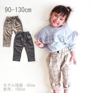 0053 送料無料 キッズ 韓国子供服 チェック パンツ 男の子 女の子 長ズボン 90cm 100cm 110cm 120cm 130cm グレー ベージュ