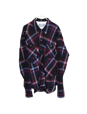 EXCHANGE SWITCHING PLAID SHIRTS (TRICOLOR)