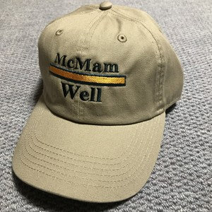"McMamWell 6panel washed CAP ""BEIGE"""