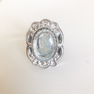 """Whiting & Davis"" cameo ring #15[r-144] ヴィンテージリング"