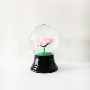 NEW! ピンクのバラ スノードーム PERZY社 M