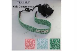 TRABELT 着せ替え可能なKnitカメラストラップ 【Karakusa】