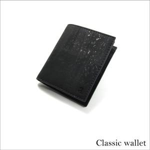 VEGAN SLIM ID WALLET  BLACK / 二つ折り財布 ブラック コルク製