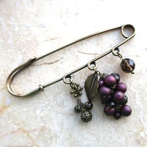 Grape/M【ブローチ/ストールピン】