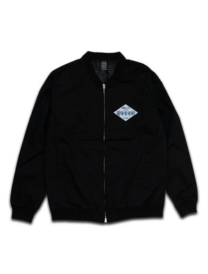 ICE CUBE PATCH STADIUM JACKET black