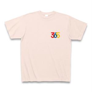 ポップな赤・青・黄365TシャツD(ワンポイント)
