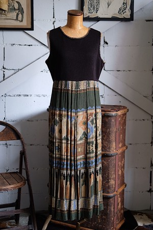 Ethnic rayon dress