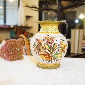 50's-60's Vintage Hand-carving&painting Flower Vase   [CV-1]