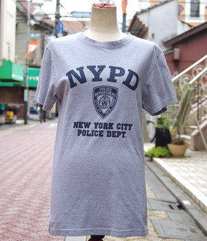 "【USED】 T-shirt ""NYPD"" Mens/S-size"