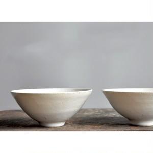 うつわ屋まる【 飯碗 (M) - 糠白 - 】hand made / 笠間焼 / 茶碗 / 器 / bowl / japan