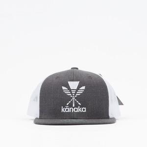 Homegrown Kanaka Embroidery Flatbill Hat【ホームグロウン ハワイアン】グレー カナカ エンボイドリー フラットビル ハット
