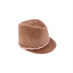 hntbk RRFW1914 rabbit fur felt Cap (BROWN)