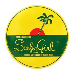 Surfer Girl ラウンドステッカー