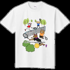 【また一緒にやろう! テニス】オリジナルお見舞いTシャツ(白)