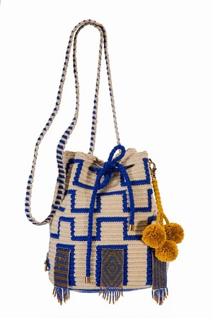 【Pre-order】 ワユーバッグ (Wayuu bag) With Bead Art F