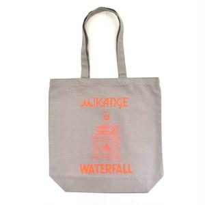 「猫アンプ」猫ツアートートバック レコードバッグ  グレー F  WATERFALLオリジナル限定商品