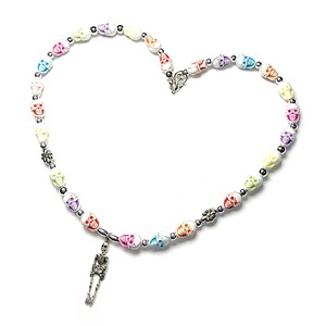 SAD44mg「 Skull Colorful 」Handmade Necklace
