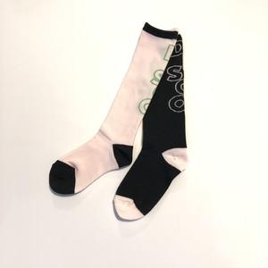 【再入荷しました】【21SS】フランキーグロウ (frankygrow) DISCO SOCKS[LL ]D.black―PK×pink‐neon green ソックス 靴下