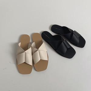2color :Turn up Sandals  92059  サンダル スリッパ