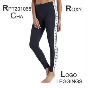 RPT201068 ロキシー 新作 レディース レギンス LOGO LEGGINGS チャコール ブラック 選べる2色 かわいい ヨガ 運動 スポーツ 夏 ビーチ 旅行 アウトドア ROXY