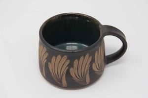 【受注生産対応】マグカップ 黒釉緑釉 クバ8柄