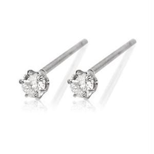 プラチナ&ダイヤモンド0.10ctピアス