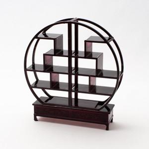 中国風ミニチュア家具/円形博古架(樹脂製)