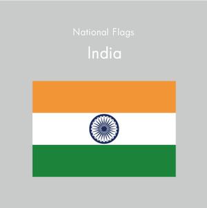 国旗ステッカー インド