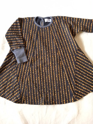 nami-nami print dress チャコールグレー