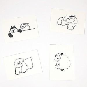 ポストカード(犬) by やまもとかなこ