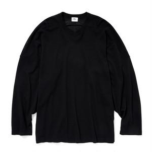 "Just Right ""Cotton Mesh Hockey Shirt"" Black"