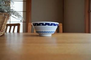 砥部焼/麺鉢/三種ボーダー/皐月窯